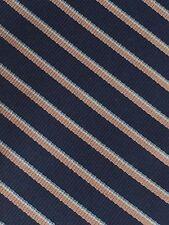 """Dooney Bourke Mens Necktie Silk Blue Striped Short 57"""" Skinny Paris New York"""