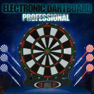"Profi 15"" Elektronische Dartscheibe Dartboard soft Dart Board 6 Pfeile Dartspiel"