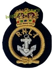 More details for rnli coxswain cap badge rnli hand embroidered bullion and wire cap badge