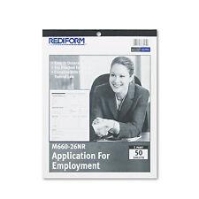 Rediform Employment Application 8 1/2 x 11 50 Forms M66026NR