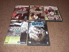 x6 Football PC CD GAMES Bundle-Fifa 13/Football Manager 08,12,14/Kick Off 02/CM4
