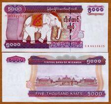 Myanmar / Burma, 5000 Kyat ND (2009), Pick 81, UNC > Elephant
