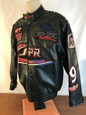 South Pole Team #24 Distressed Drag Racing Technologies Polyvinyl Jacket Mens L