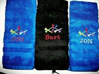 """GOLF TOWEL / PERSONALIZED 15"""" X 25"""",NEW EMBROIDERED"""