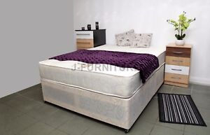 Super Sale! 2tt6 3ft 4ft 4ft6 5ft Divan Bed Base Mattress Storage Black Cream