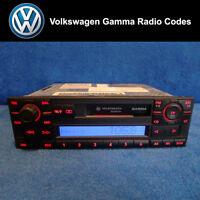 Volkswagen Gamma Radio Code Unlock Stereo Codes PIN | RCD 310 300 200 210 215