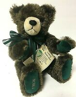 """Hermann Limited Edition Ludwig Music Bear 13"""" Brown Mohair Wind-Up Teddy"""
