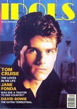 IDOLS MAGAZINE, Number 34, Dec 1990. Free UK Post. Tom Cruise, David Bowie, etc.
