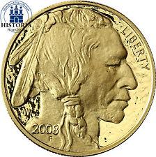 USA 50 Dollar Gold 2008 PP Goldmünze American Buffalo Büffel und Indianerkopf