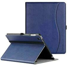 iPad 2/3/4 Generation Slim Folding Stand Folio PU Leather Case Cover, Navy Blue