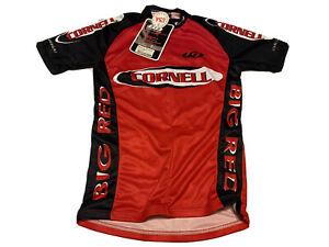 Cornell Cycling Team Club Louis Garneau Bike Jersey Big Red 3/4 Zip Size XS NWT
