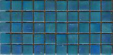 50pcs NP51 Turquoise Natura Pearl Glass Mosaic Tiles Iridescent 15x15x4mm