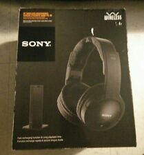 Sony MDR-RF985RK Wireless RF TV Stereo PC Universal RF Rechargeable Headphones
