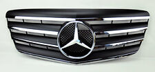 4 Fin Front Hood Sport Black Chrome Grill Grille for Mercedes E Class W211 07-09