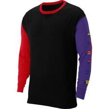 NIKE AIR JORDAN Rivals Long Sleeve Jersey Shirt Black Red Purple 91 Championship