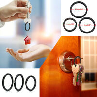 5Pcs 25mm DIY Stainless Steel Key Holder Split Rings Keyring Keychain