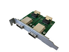 2-Port SFF-8087 Mini SAS 36-Pin to SFF-8088 Mini SAS 26-Pin Full PCI Adapter