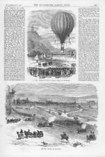 1870 FRANCO GERMAN WAR Siege of Paris BALLOON  Montmatre MOUZON Meuse (142)