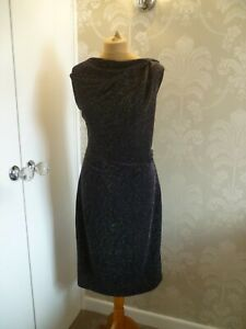 PER UNA blue shimmering evening dress size 16