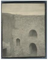 Tunisie, Maison troglodyte Vintage silver print.  Tirage argentique  9x12