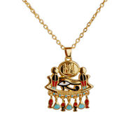 """GOTHIC/ STEAMPUNK Egyptian Eye of Horus Charm pendant Necklace & 18"""" Chain"""
