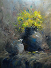 Original Painting by American Artist J.Jung / Still Life# 0181AC_JJ19