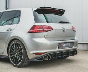 VW Golf 7 GTI Heck Diffusor  Heckansatz Cup DTM Golf VII Clubsport Flaps V1 RS1