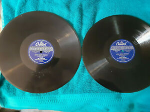Lot of 2  records 78rpm 1949 Little Johnny Strikeout featuring - Joe DiMaggio