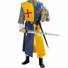 MEDIEVAL RED TEMPLAR Tunic Surcoat Crusader Sleeveless Renaissance LARP SCA
