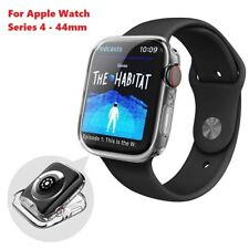 Apple Watch Series 4 Case iwatch TPU Gel Screen Protector ultra thin 44mm -Clear