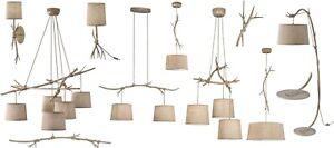 Pendants Fabric Hanging Rope Floor Table Lamp Wall Light Wood Rustic Brown Iron