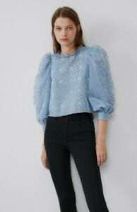 Zara Blue Top Medium / New Without Tags / Big Sleeves