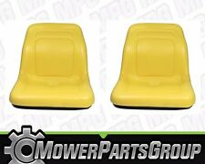 "(2) John Deere Gator 18"" High Back Seats 4x2 6x4 UTV Trail AM129969 VG11696"