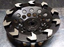 SASE 7in Premium Arrow Segment Cup Wheel for Concrete Threaded Standard Arbor