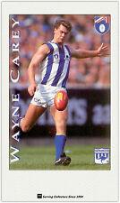 1995 Hungry Jack's AFL Captains Trading Card #12 Wayne Carey (North Melbourne)
