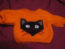 Customized Halloween Black Cat Sweater Handmade for 18 inch Build A Bear