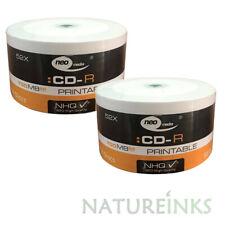 100 NEO Full Printable White CD-R 52x High Quality CD Blank Discs 700MB 80mins