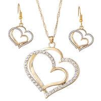 Collares Cadenas de Oro Para Mujer 14K Aretes Pendientes Argollas de Moda Plata
