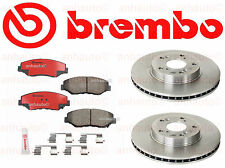 2 Front Honda Accord CRV Element Acura ILX Brembo Disc Brake Rotor & Pad Set