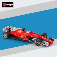 BBURAGO 1:18 Scale F1 2017 Ferrari SF70-H No.5 S. Vettel Diecast Model Car New
