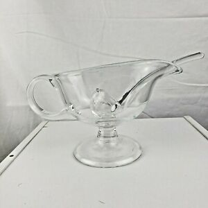 Clear Footed Gravy Boat Ladle