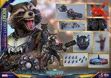 Hot Toys MMS 411 GOTG2 - Rocket (Deluxe) NEW! (No Second headsculpt)