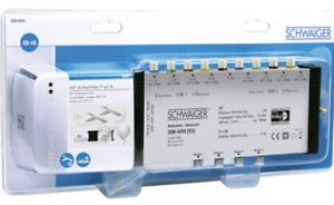 SCHWAIGER SAT Multischalter 9 → 4 Umschalter TV Digital Multi Switch  035