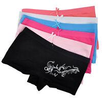 Lot 6 PCS Women Cotton Boxers Underwear Low Rise Floral Panties Boyshorts A848