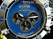 Invicta Mens 50mm Subaqua Noma III Chronograph BLUE Dial Silver Tone SS Watch