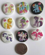 Lot of 9 My Little Pony Badges - 3cms diameter - for loot bags