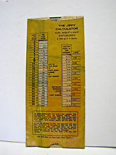 1964 Vintage Jiffy Photo Calculator For Night-Light Exposure Guide Photography