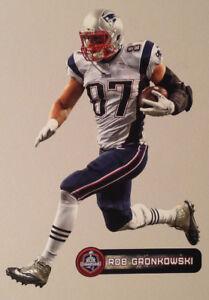 "Rob Gronkowski FATHEAD Superbowl XLIX Champions 10"" Graphic +NAME SIGN Patriots"