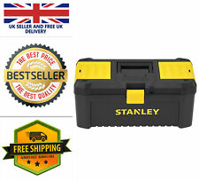"""Stanley STST1-75517 Essential 16"""" Toolbox with Plastic Latches Black/Yellow UK"""