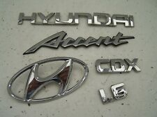 Hyundai Accent Saloon boot badges (2003-2005)